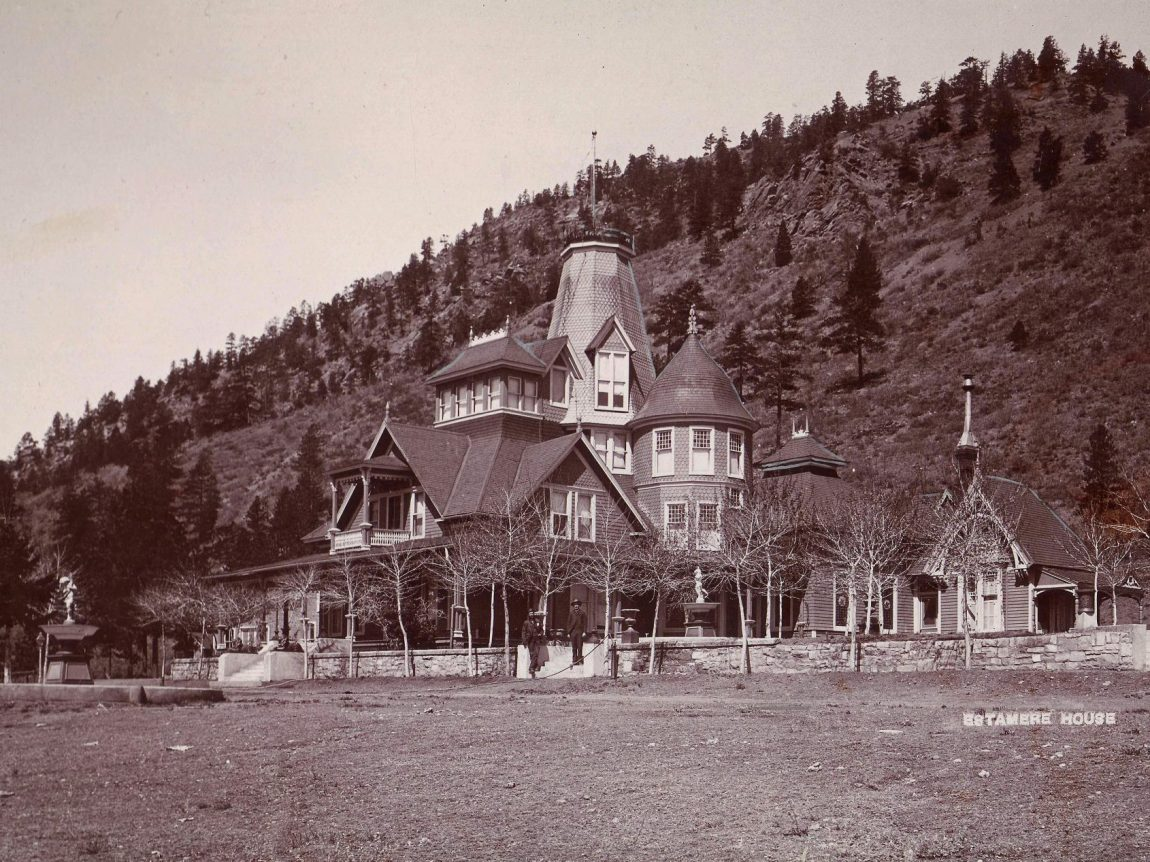 Black and white photograph of the Estemere House
