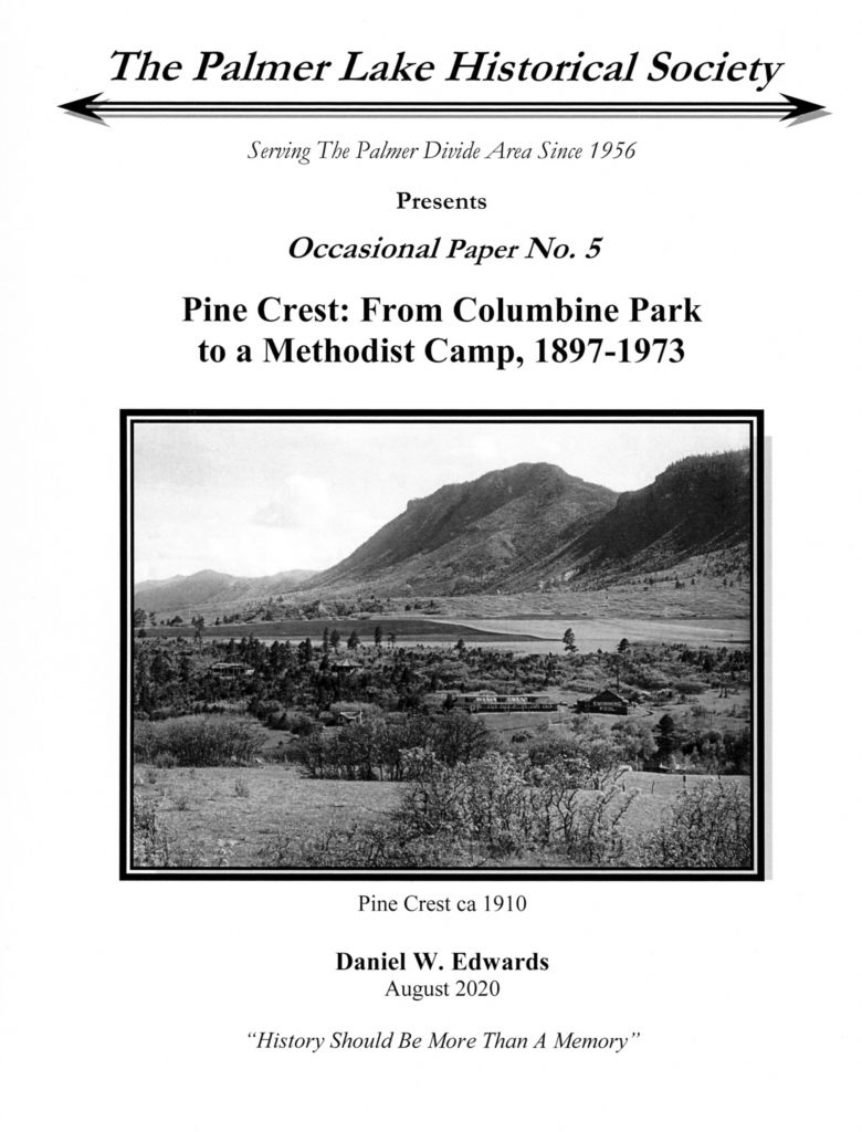Cover image for Occasional Paper 5: Pine Crest: from Columbine Park to a Methodist Camp 1897-1973